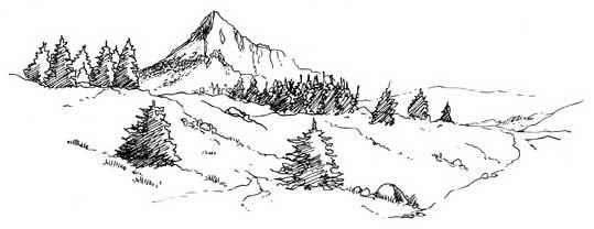 Montagne ideal camping - Dessin de montagne ...